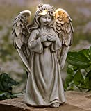 outdoor angels - The Lakeside Collection Garden Angels with Solar Halos Heart