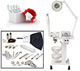 LCL Beauty 9-in-1 Facial Machine: Galvanic Current, High Frequency, Massage Brush, Vacuum Extractor, Spray Diffuser, Aromatherapy, Mag Lamp, Wood's Lamp Review