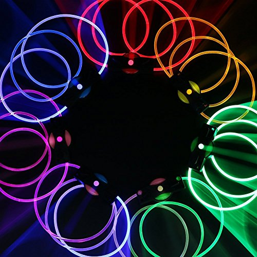 Led ShoeLaces [10 Pcs], LOHASIC Transparent Light Up Glow in the Dark Shoe Laces for Nighttime Activity Random Color