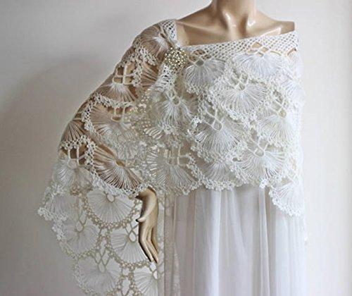 Amazon Ivory Bridal Shawlwinter Wedding Crochet Shawlbridal