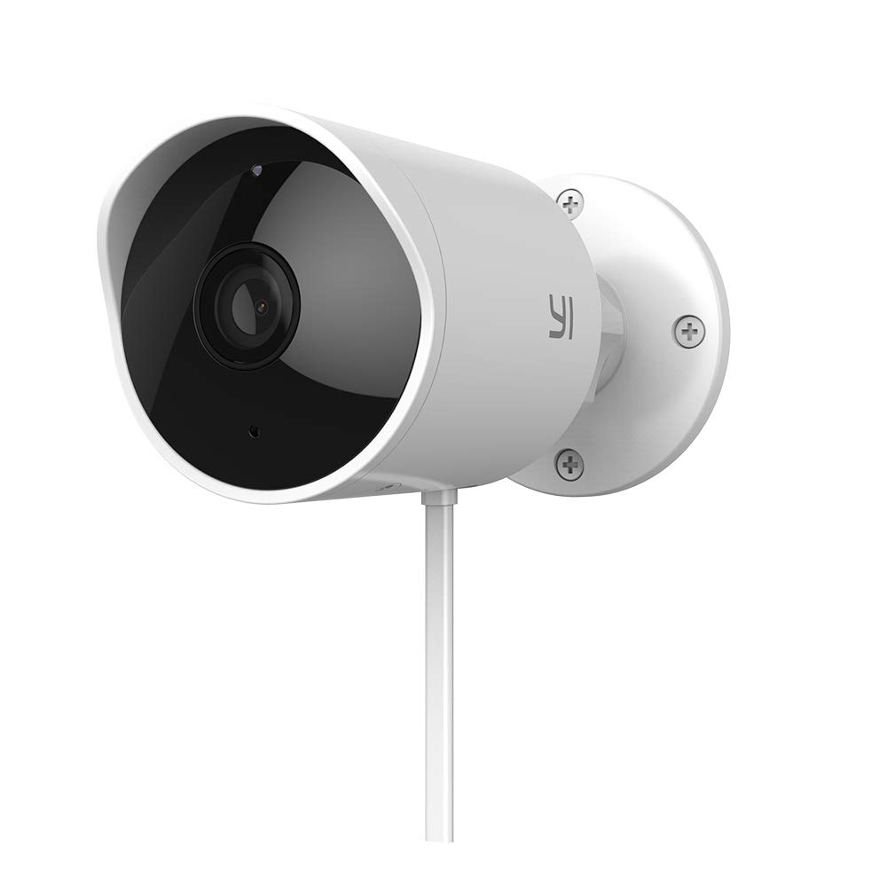 YI Outdoor Security Camera, 1080P 2 4G Wireless IP Waterproof Night Vision  Surveillance System with 24/7 Emergency Response, Motion Detection,