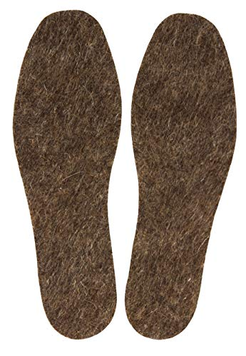 Felt Mali - Warm Felt Wool Insoles for Men, Natural Wool Cozy Winter Insoles for Boots and Walking Shoes, 6 mm Thick, 1 Pair in Pack (Size 13)