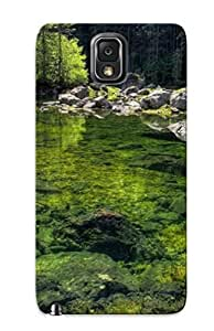 Unique DesignSamsung Galaxy Note3 Durable Tpu Case Cover Mossy Rocks In The Water