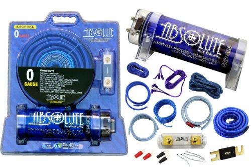 Absolute USA KITCAP0GABL 4.0 Farad Power Capacitor 0 Gaug...