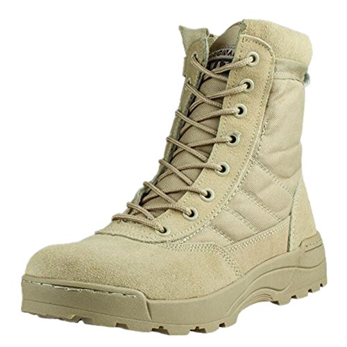 Newbestyle Hiking Sandy Battlefield Boots Desert Men's Shoes Outdoor Heel High 6610R