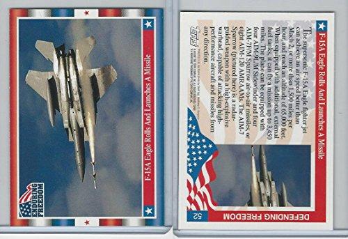 2001 Topps, Enduring Freedom, #52 F-15A Eagle - F-15a Eagle