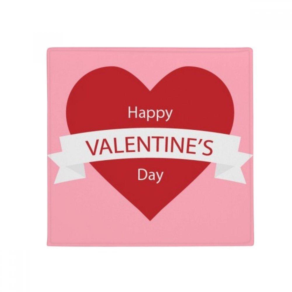 DIYthinker Happy Valentine's Day Pink Red Anti-Slip Floor Pet Mat Square Home Kitchen Door 80Cm Gift