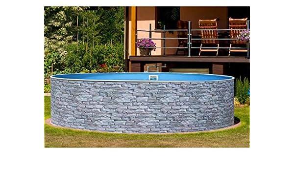 Mountfield AZURO Vario Stone V5 - Piscina de Pared de Acero (500 x ...