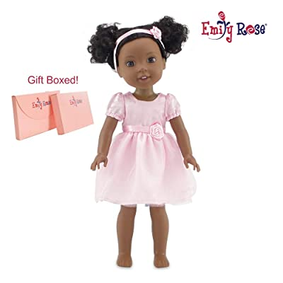 """Emily Rose 14 Inch Doll Pink 14"""" Doll Easter Dress with Headband 