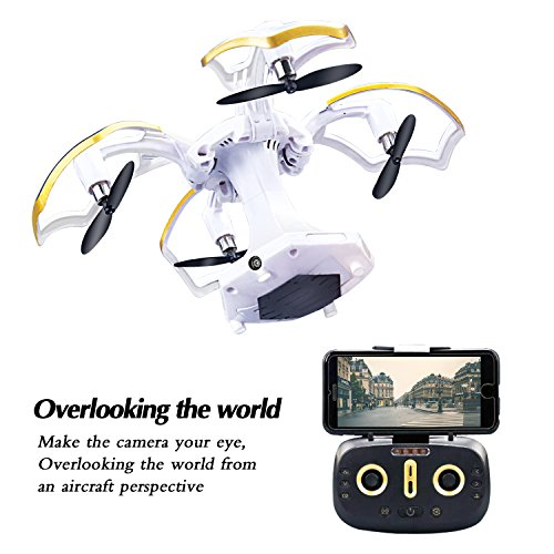 LBKR-Tech-FPV-RC-Drone-WiFi-Live-Feed-RC-Quadcopter-with-HD-Camera-24Ghz-6-Axis-Gyro-4CH-Remote-Control-UAV-Drone-with-Altitude-Hold-Headless-One-Key-Take-Off-Landing-Return-Home