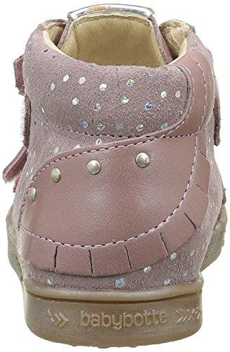 Babybotte Aublada 1B4247 - Zapatillas con velcro para niñas Rosa (212 Rose Pailleté)