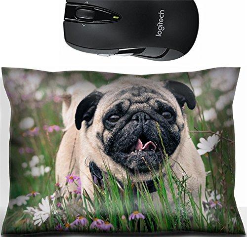 - Liili Mouse Wrist Rest Office Decor Wrist Supporter Pillow Pug dog Photo 20892497