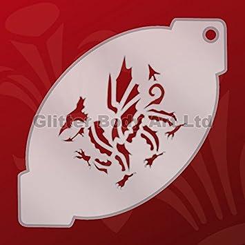craftstar welsh dragon stencil laser cut a4 dragon stencil template