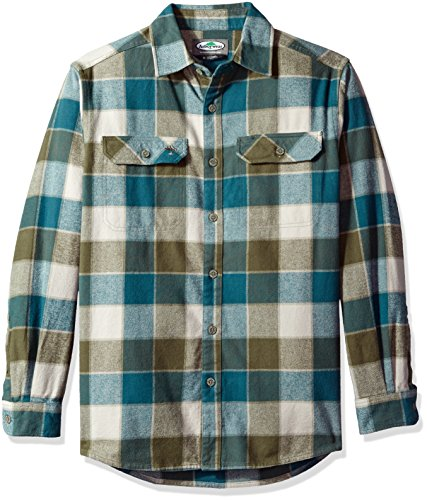 Cotton Utility Shirt Patch (Arborwear Men's chagrin Flannel Shirt, Turquoise, 2X-Large)