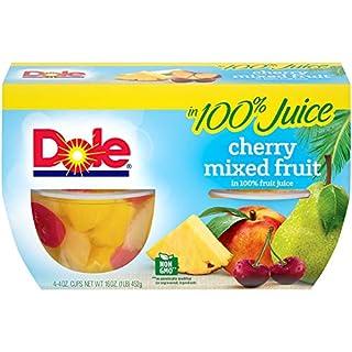 Dole Fruit Bowls, Cherry Mixed Fruit in 100% Fruit Juice, 4oz, 24 cups