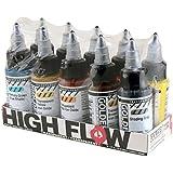 Golden 0000954-0 High Flow Acrylic 10-Color Transparent Set