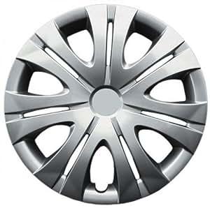 """Drive Accessories KT-1012-16S/L, Toyota Corolla, 16"""" Silver Replica Wheel Cover, (Set of 4)"""
