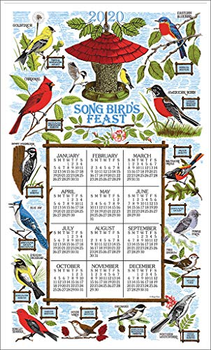 Kay Dee Designs 2020 Linen Calendar Towel - Songbird Festival ()