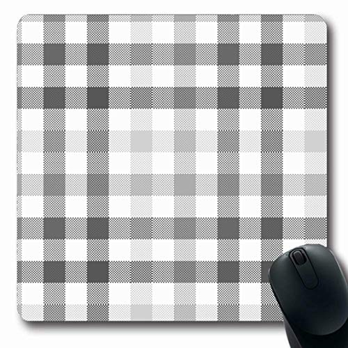 LifeCO Mouse Pad Striped Gray Pattern Checkered Diagonal Plaid Grid Abstract Black Celtic Checked Checkerboard Oblong Shape 7.9 x 9.5 Inches Mousepad for Notebook Computer Mat Non-Slip Rubber