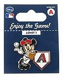 MLB Arizona Diamondbacks Disney Pin - Mickey Leaning on Home Base