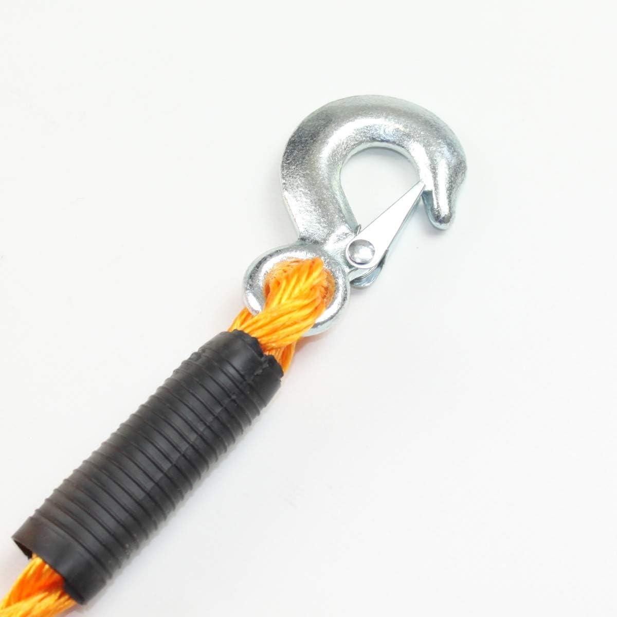 Benson Abschleppseil Bis 5000kg Abschlepphilfe 3 5m Elastisches Seil Orange Mit 2 Haken Baumarkt