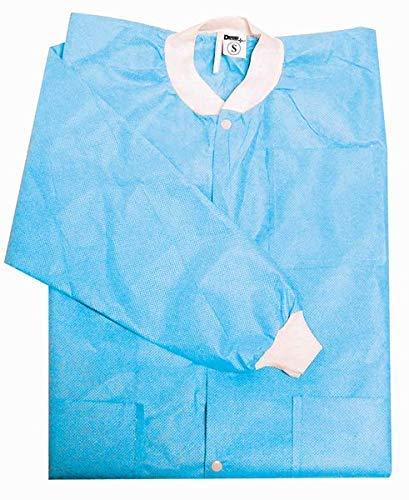 Lab Coats Protective (Defend Disposable Protective Lab Dental Gown Coat – (Medium)– 10 per bag)