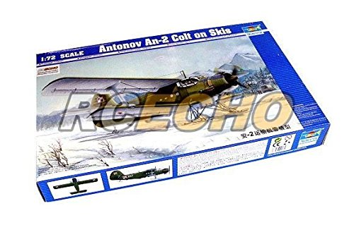 RCECHO® TRUMPETER Aircraft Model 1/72 Antonov An-2 Colt on Skis Scale Hobby 01607 P1607 with RCECHO® Full Version Apps Edition