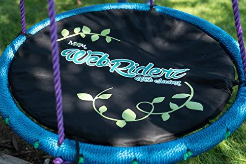 - M & M Sales Enterprises Web Riderz Web Swing Cushion, Black, One Size