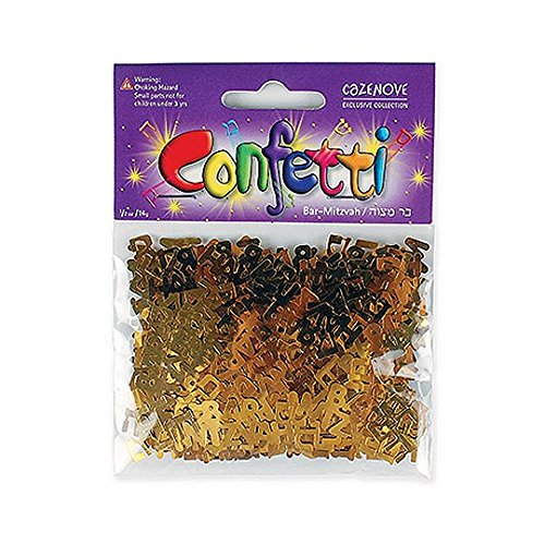 Bar Mitzvah Star - Bar Mitzvah Confetti, Barmitzvah Confetti for Parties, and for a Jewish Party
