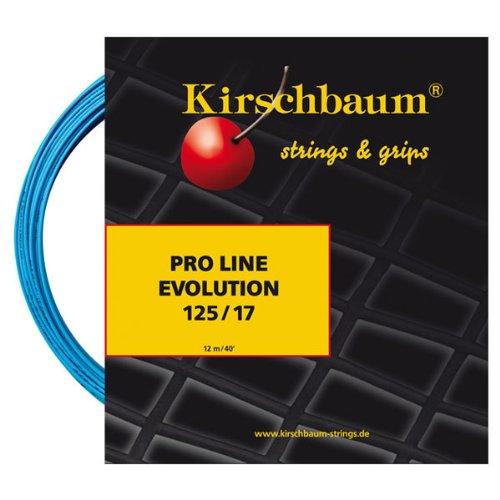 Kirschbaum Set Pro Line Evolution Tennis String, Blue, 1.25mm/17-Gauge PLE 125-12x3