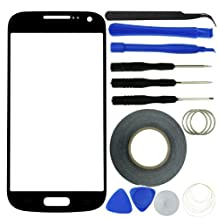 Eco-Fused Screen Replacement Kit for Samsung Galaxy S4 Mini including Replacement Glass / Tool Kit / Adhesive Sticker Tape / Tweezers / Microfiber Cleaning Cloth / Instruction Manual (Black)
