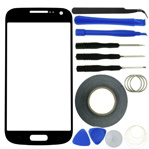 Eco-Fused Screen Replacement Kit for Samsung Galaxy S4 Mini including Replacement Glass / Tool Kit / Adhesive Sticker Tape / Tweezers / Microfiber Cleaning Cloth / Instruction Manual by Eco-Fused