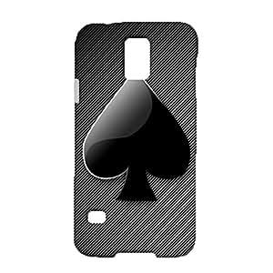 Samsung Galaxy S5 I9600 Phone Case,Unique Design Poker Pattern Premium Quality 3D Slim Hard Phone Case Fit Samsung Galaxy S5 I9600
