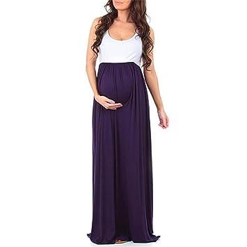 Amphia Kleider Damen Schwanger Frau Spitze Lange Maxi Kleid Mutterschaft  Kleid Fotografie Requisiten Kleider Umstandskleid ( 8a1f5ba25a