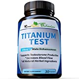 RaeSun Botanics Titanium Test All Natural Testosterone Booster for Men- Natural Stamina,Energy, Strength Booster with Clinically Proven Byronia Seed Extract! For Sale
