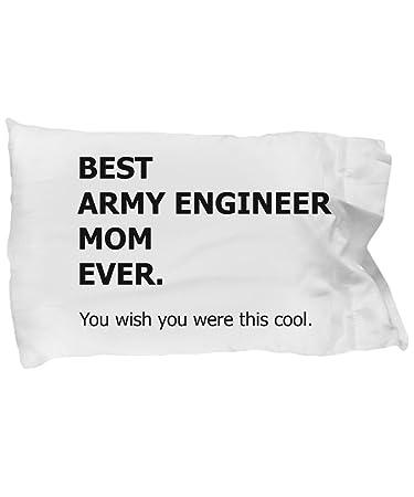 Amazon.com: Ejército ingeniero mamá funda de almohada – la ...