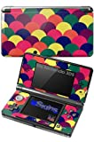 Brushed Cirlces Multi Dark - Decal Style Skin fits Nintendo 3DS (3DS SOLD SEPARATELY)