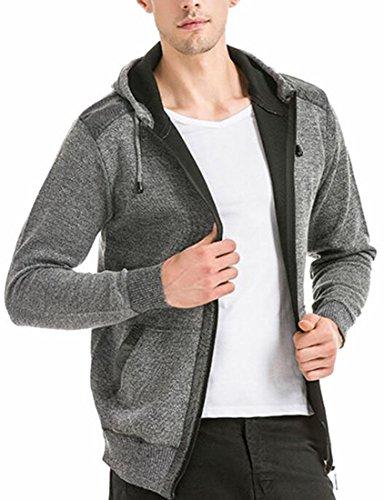 Hoodie Grey Windbreaker Light Mens Jackets today Autumn Outwear Coat Light Weight UK wRPSqxBX