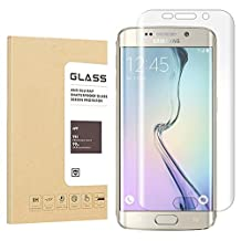 Hoperain Samsung Galaxy S6 Edge Tempered Glass Screen Protector With 9H Hardness, Crystal Clear, Easy Bubble-Free Installation, Scratch Resist - 2 Piece
