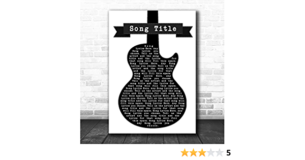 Perfect Black White Guitar Song Lyric Quote Print