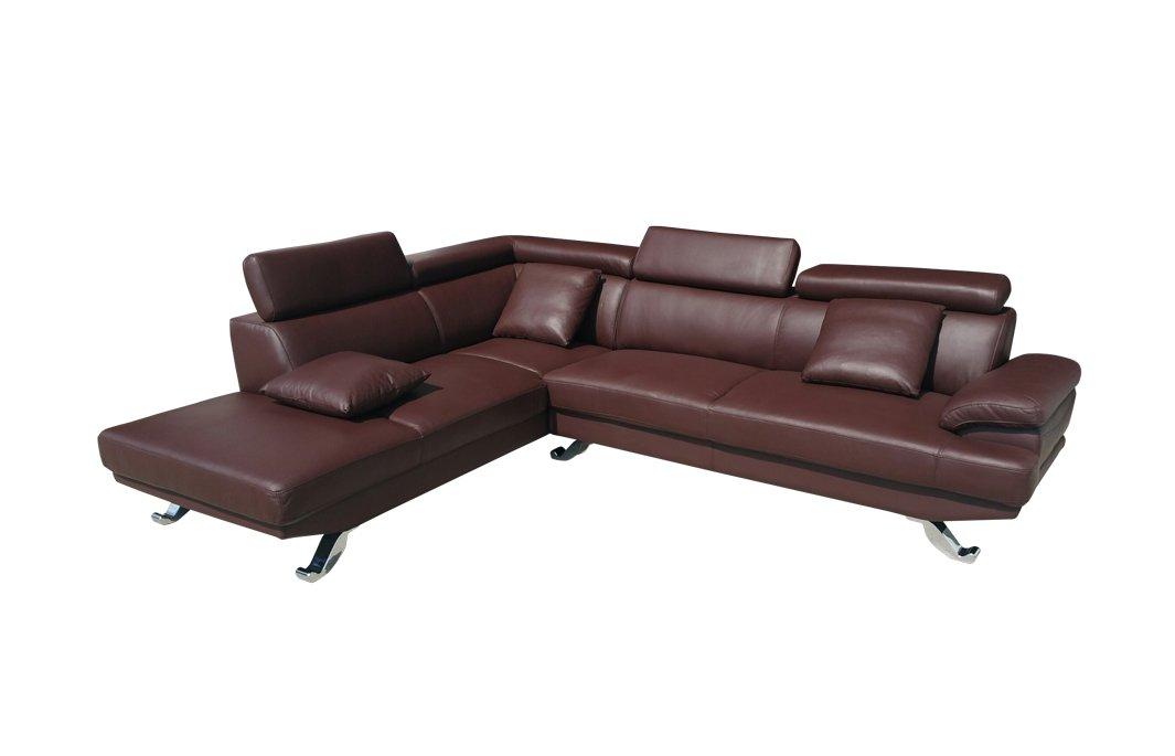 Ledergarnitur Couch Ledersofa Voll-Leder Ecksofa Sofa Garnitur 2021-L-377
