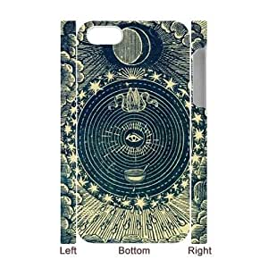 Sun Moon Pattern CUSTOM 3D Case Cover for iPhone 4,4S LMc-70358 at LaiMc