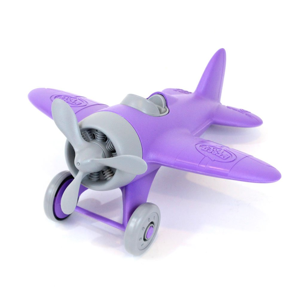 Green Toys Purple Airplane Vehicle Toy, Dark Purple, 8.5''X9''X4.5''