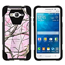 Samsung Galaxy Grand Prime Case, Full Body Fusion SHOCK Impact Kickstand Case with Exclusive Illustrations for Samsung Galaxy Grand Prime SM-G530 by MINITURTLE - Pink Hunter Camouflage