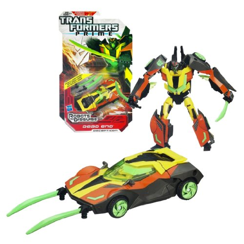 Hasbro Year 2011 Transformers Robots in Disguise Prime Series 1 Deluxe Class 6 Inch Tall Robot Action Figure #10 - Decepticon DEAD END with Double Laser Swords (Vehicle Mode: Sports Car)