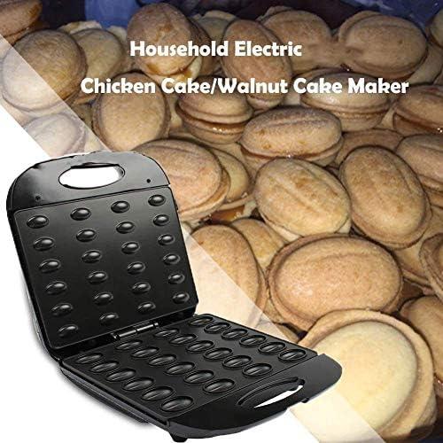 LXTIN Gâteau électrique de Noix, Fer à Sandwich Automatique de Mini Machine de Pain de Gaufre d'écrou, Four de Petit déjeuner de Cuisson de Grille-Pain