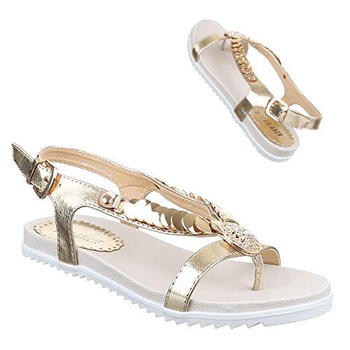 Ital-Design - Zapatos con tacón Mujer dorado