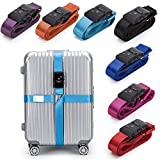 BlueCosto Luggage Strap TSA Approved Combination Lock Adjustable Suitcase Travel Belt