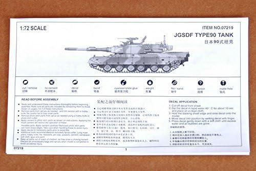 Japanese Type 90 Kyu-maru Tank 1:72 Plastic Kit