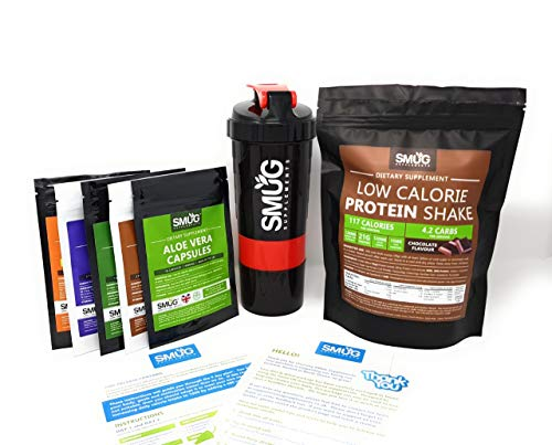 Smug Diet and Detox Plan   Fat Loss Package with Slimming Pills and Protein Shake   Designed to Help You Cleanse and…